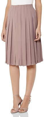 REISS Selina Pleated Skirt $245 thestylecure.com