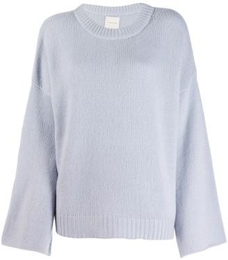 Fine Edge bell sleeve sweater