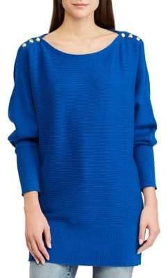 Lauren Ralph Lauren Embellished Long-Sleeve Sweater