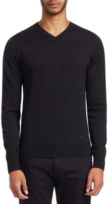 Emporio Armani V-Neck Solid Sweater