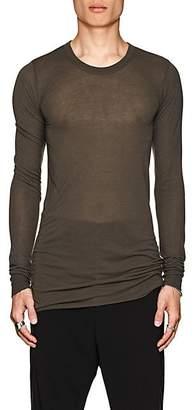 Rick Owens Men's Elongated Long-Sleeve T-Shirt - Gray
