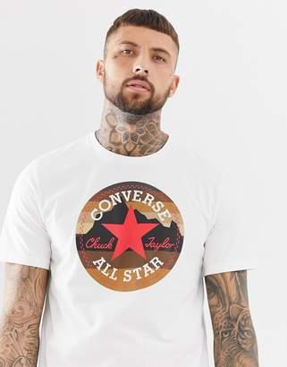 1ca697d95423 ... Asos · Converse Chuck Logo T-Shirt in white 10009064-A01