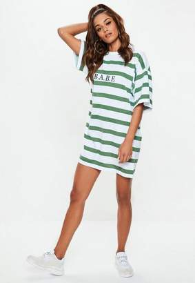 Missguided And Green Oversized Tshirt Dress