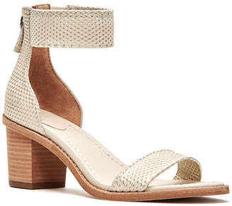 Frye Brielle Metallic Back Zip Sandals