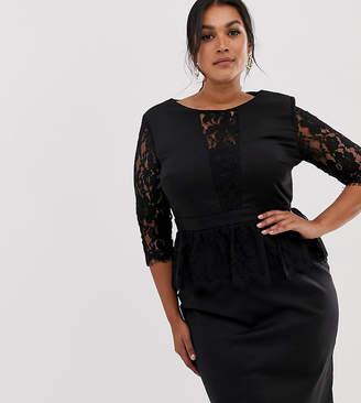 Black Plus Size Peplum Dress Shopstyle Uk