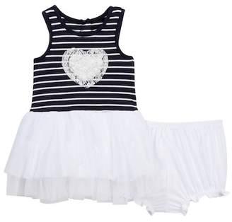 Pippa & Julie Heart Tutu Dress & Bloomers (Baby Girls 12-24M)