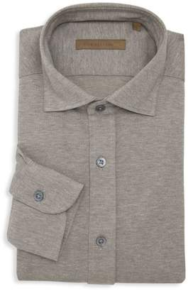 Corneliani Classic-FIt Textured Dress Shirt