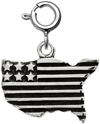 Sterling USA Flag Charm