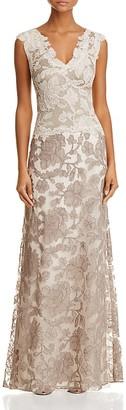 Tadashi Shoji Two-Tone Lace Gown $588 thestylecure.com