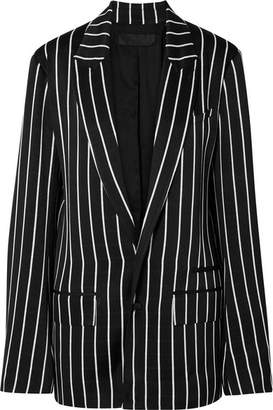 Haider Ackermann Striped Satin Blazer - Black