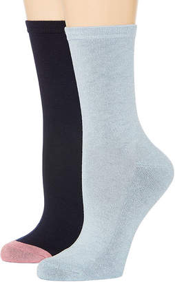 MIXIT Mixit 2 Pk Rayon From Bamboo Pillow Sole 2 Pair Crew Socks - Womens
