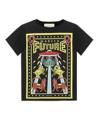 Gucci Modern Future Short-Sleeve T-Shirt, Size 4-12 $135 thestylecure.com
