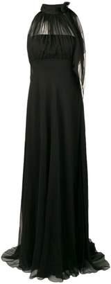 Alberta Ferretti tied neck gown