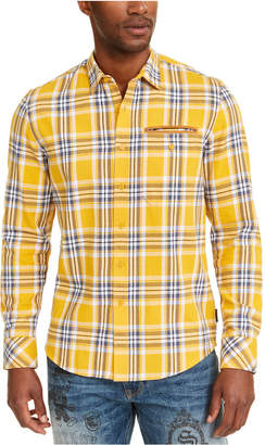 Sean John Men Twill Flannel Plaid Shirt