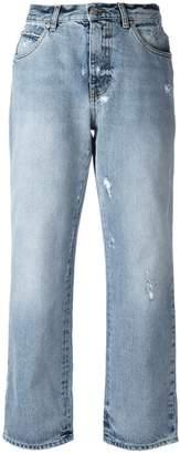 Alexander McQueen distressed boyfriend jeans