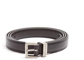 Saint Laurent Grained-leather belt
