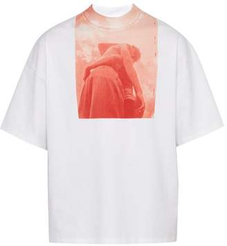 Jil Sander Photo Print Cotton T Shirt - Mens - Red