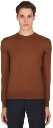 Prada Virgin Wool Crewneck Sweater