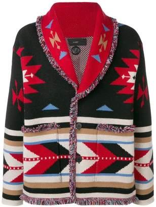 Alanui Southwest-inspired intarsia cardigan