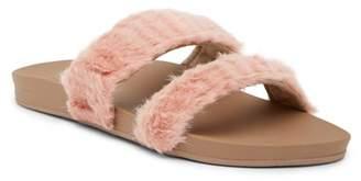 Reef Cushion Bounce Faux Fur Slide Sandal