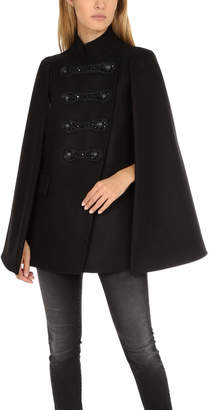 Pierre Balmain Embellished Military Cape