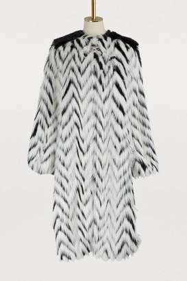 Givenchy Faux-fur long coat