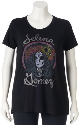 "Juniors' Plus ""Selena Gomez Kill Em With Kindness"" Graphic Tee $24 thestylecure.com"