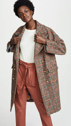 Stella Jean Plaid Coat