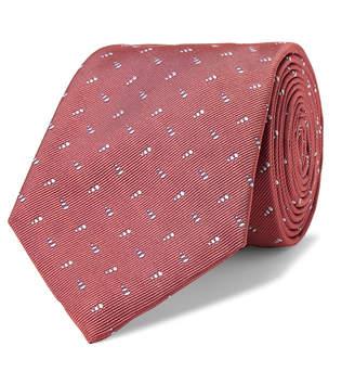 Turnbull & Asser 8cm Embroidered Silk-Twill Tie