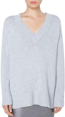 Akris Punto Oversize Wool/Cashmere Sweater with Side Zip Details