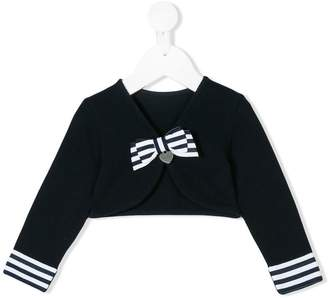 Lapin House front bow cardigan