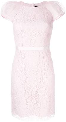 Paule Ka lace-embroidered fitted dress