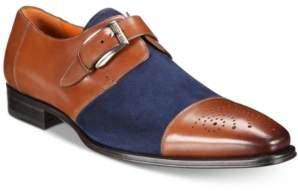daa9fa3a48 Mezlan Men s Monk-Strap Medallion-Toe Suede Vamp Shoes Men s Shoes