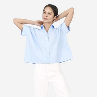 Everlane The Cotton Poplin Short-Sleeve Square Shirt