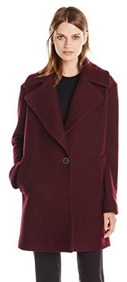 Kensie Women's Wool-Blend Cocoon Coat $175 thestylecure.com