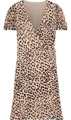 484bde0b8 Alice + Olivia Rosette Leopard-print Fil Coupe Chiffon Wrap Dress