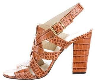 Robert Clergerie Jorki Crocodile Sandals