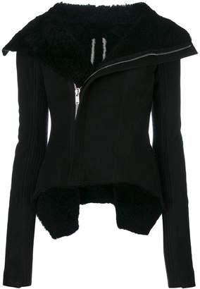 Rick Owens off-center zip fastening jacket