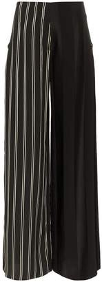 Esteban Cortazar side closure striped wool blend trousers