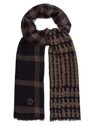 Giorgio Armani Virgin wool-blend scarf