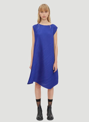 Pleats Please Issey Miyake Pleated Flow Dress in Blue