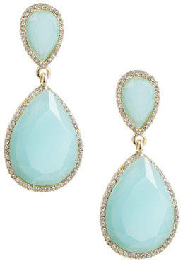 ABS by Allen Schwartz Pave-Framed Double Teardrop Earrings