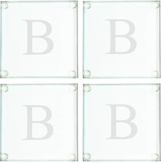Cathy's Concepts Personalized Glass Coasters, Set of 4