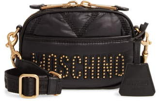 Moschino Quilted Nylon Crossbody Bag