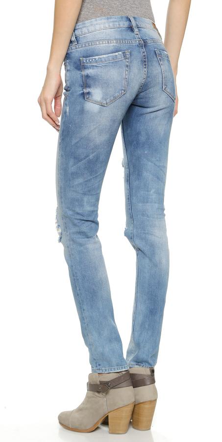 Blank Denim Distressed Skinny Jeans 2