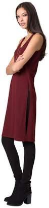 Le Château Women's Knit Longline Slit Tunic,L