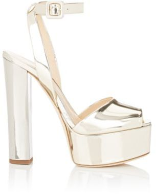 Giuseppe Zanotti Women's Bi-Color Platform Sandals-GOLD $795 thestylecure.com