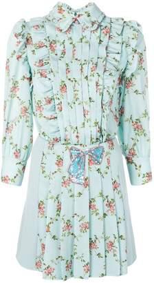 Elisabetta Franchi pleated shirt dress