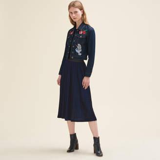 Maje Pleated midi-length skirt