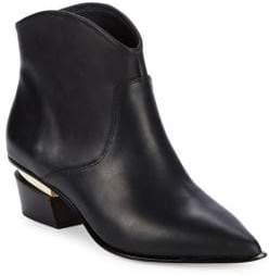 Donna Karan Blane Leather Point Toe Booties